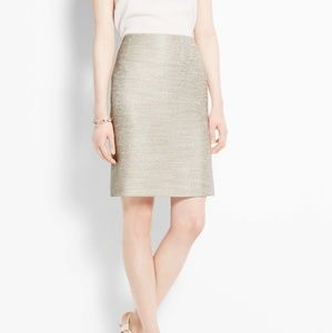 ANN TAYLOR LOFT METALLIC MINI SKIRT
